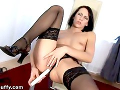 chattes masturbation, grassouillets, close up, gode, lèvres, lingerie