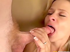 rough milf, dick, cumshot, cum-covered, facial, doggystyle, mom, blonde, cum-in-mouth, big-cock, hardcore, cum